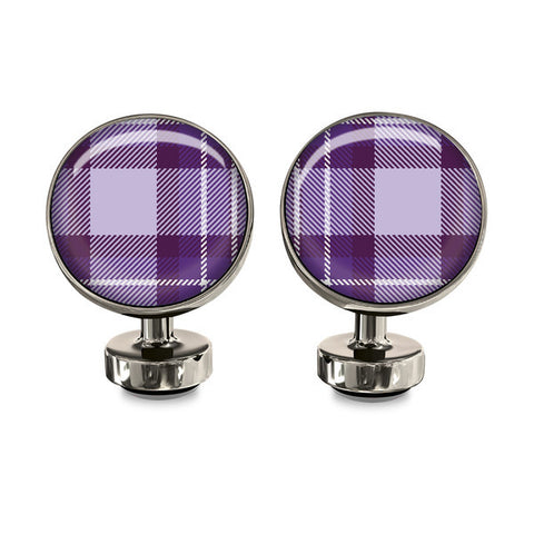 Purple Plaid Wurkin Stiffs Cufflinks