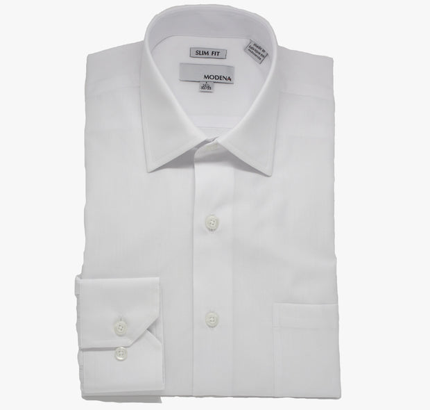 White Modena Slim Dress Shirt