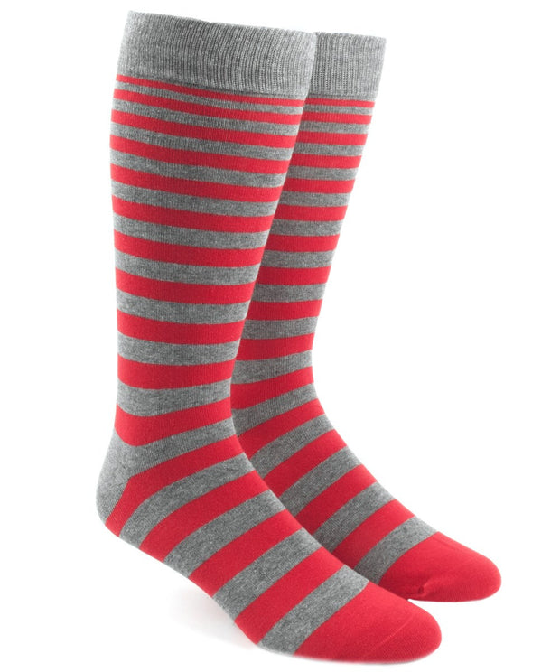 Apple Red Ombre Stripe Socks
