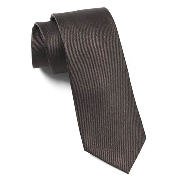 Black Grosgrain Solid Tie