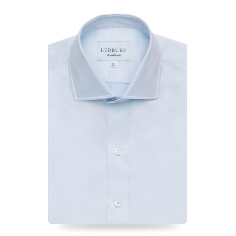 Ledbury Blue Slim Fine Twill Spread Collar Dress Shirt