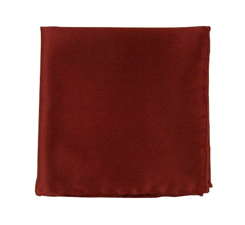 Burgundy Solid Twill Pocket Square