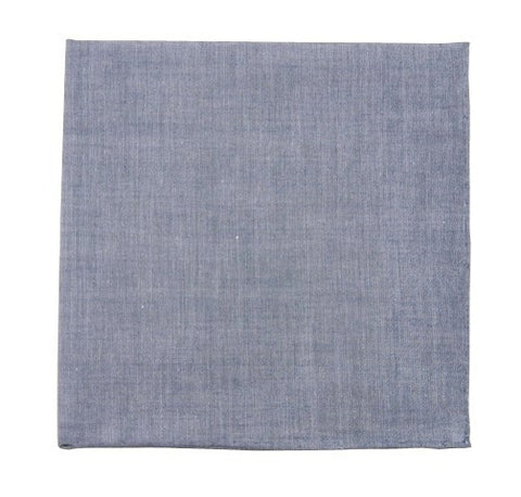 Warm Blue Classic Chambray Pocket Squares