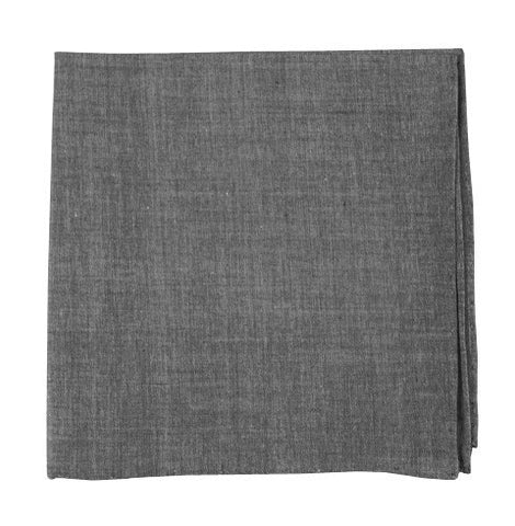 Soft Gray Classic Chambray Pocket Squares