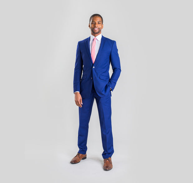 Pursuit French Blue Slim Suit Coat