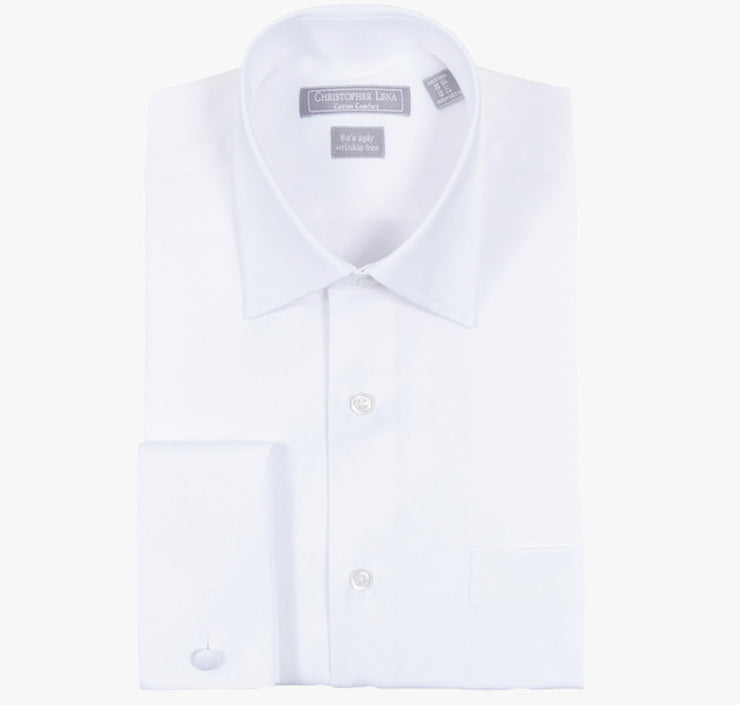 Christoper Lena Slim White French Cuff Dress Shirt