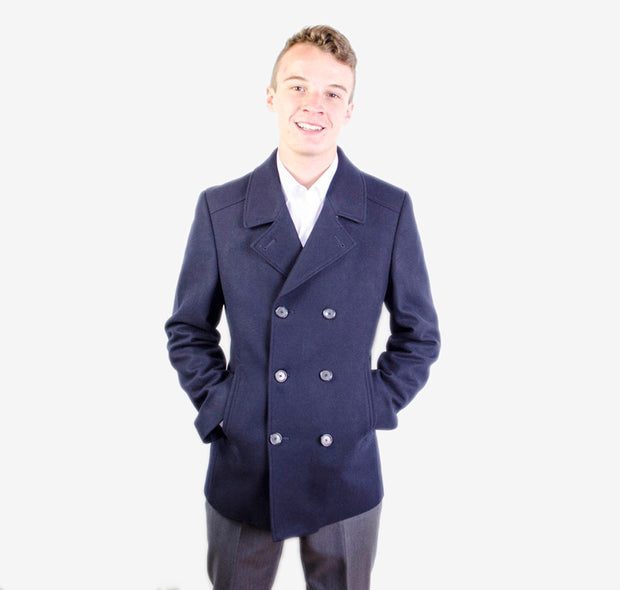 Navy Austin Reed Peacoat