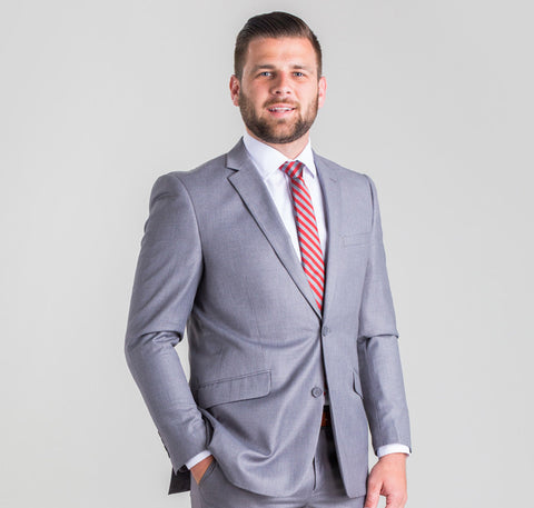 Pursuit Light Gray Slim Suit Coat