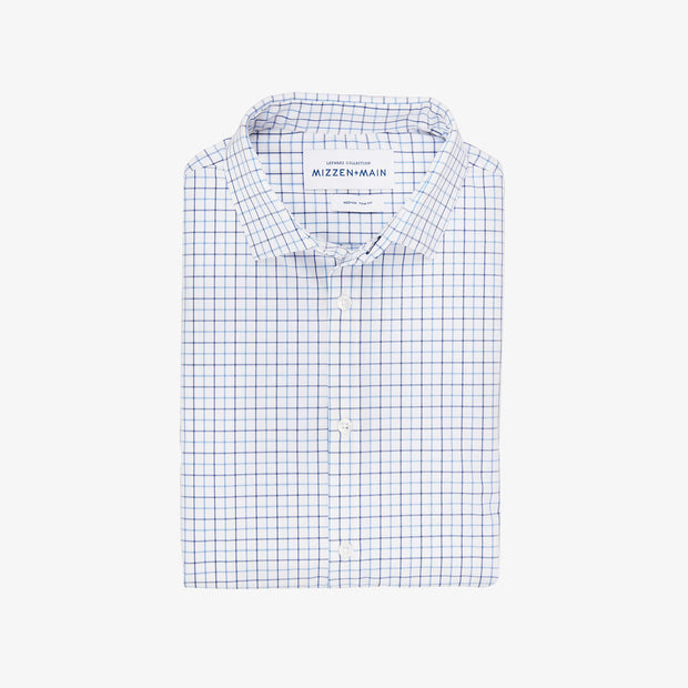Mizzen + Main Hopper Blue Check Shirt - FINAL SALE
