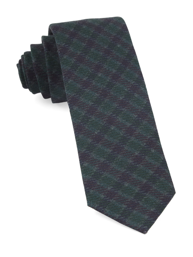 Hunter Green Wentworth Plaid Tie