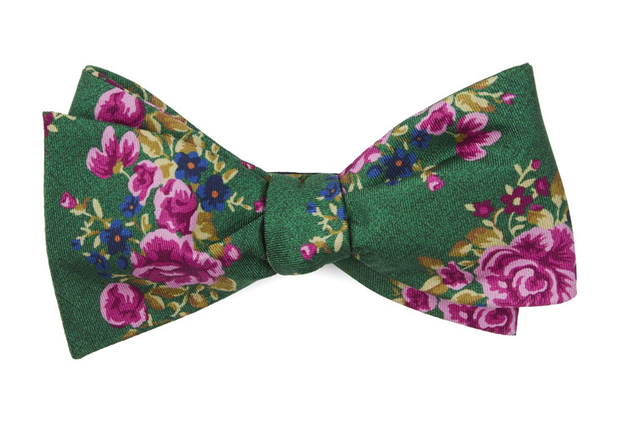 Kelly Green Hinterland Floral Bow Tie
