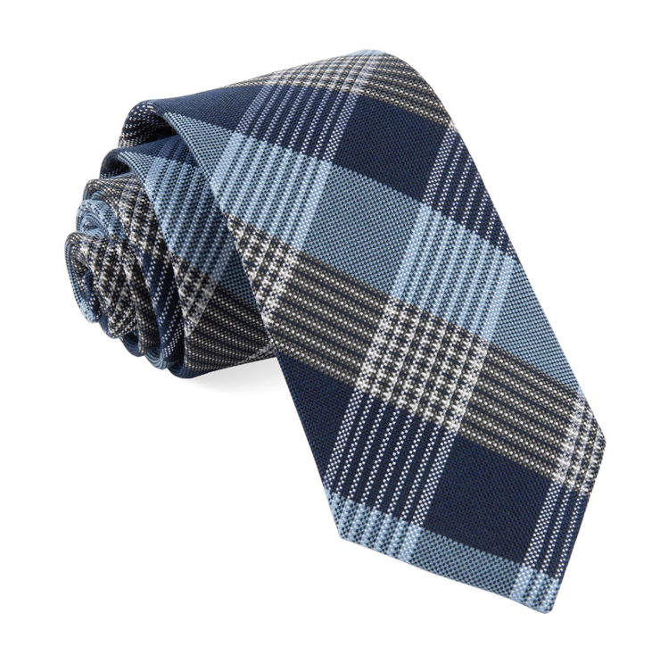 Light Blue Oxford Plaid Tie