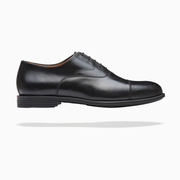 Fliteless Black Cap-Toe Oxford Shoe