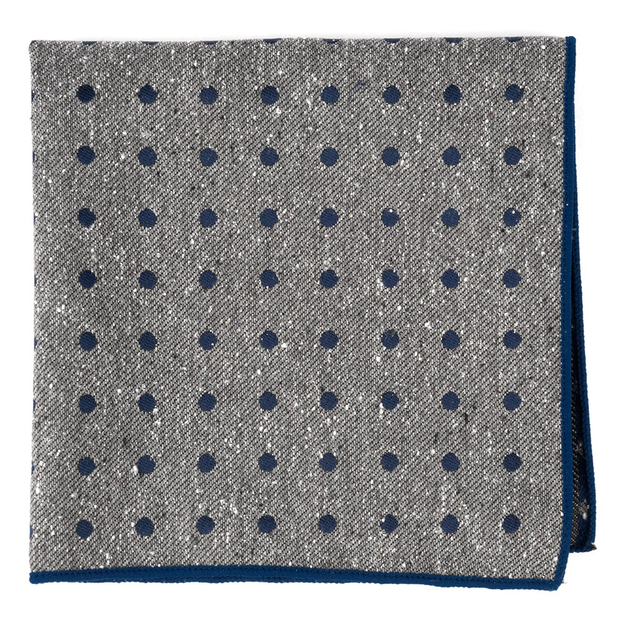Navy Revolve Dots Pocket Square