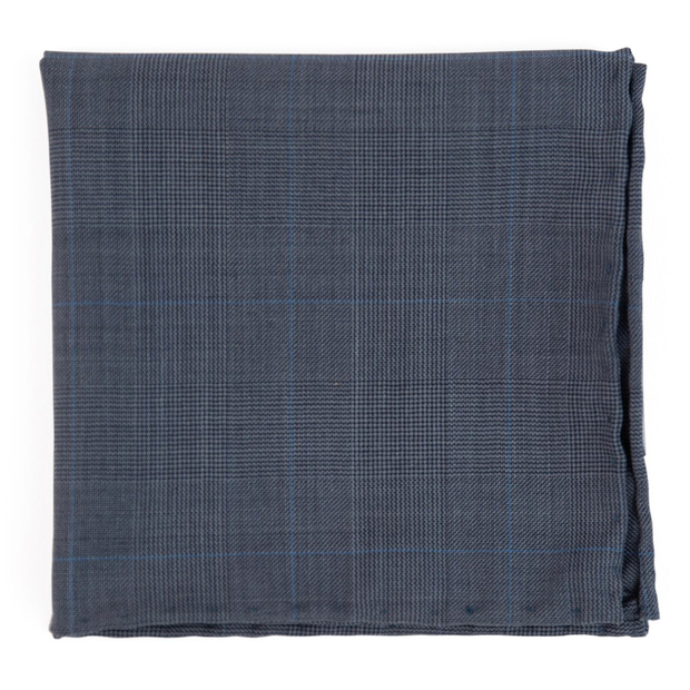 Blue Knick Plaid Pocket Square