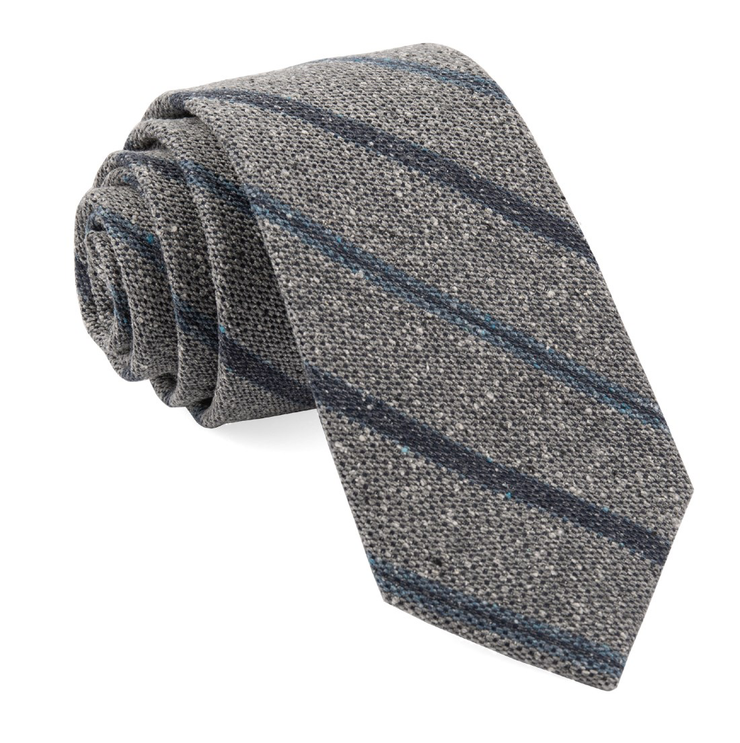 Light Gray Cargo Stripe Tie