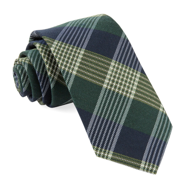 Hunter Green Oxford Plaid Tie