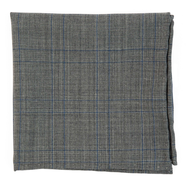 Gray Cord Plaid Pocket Square