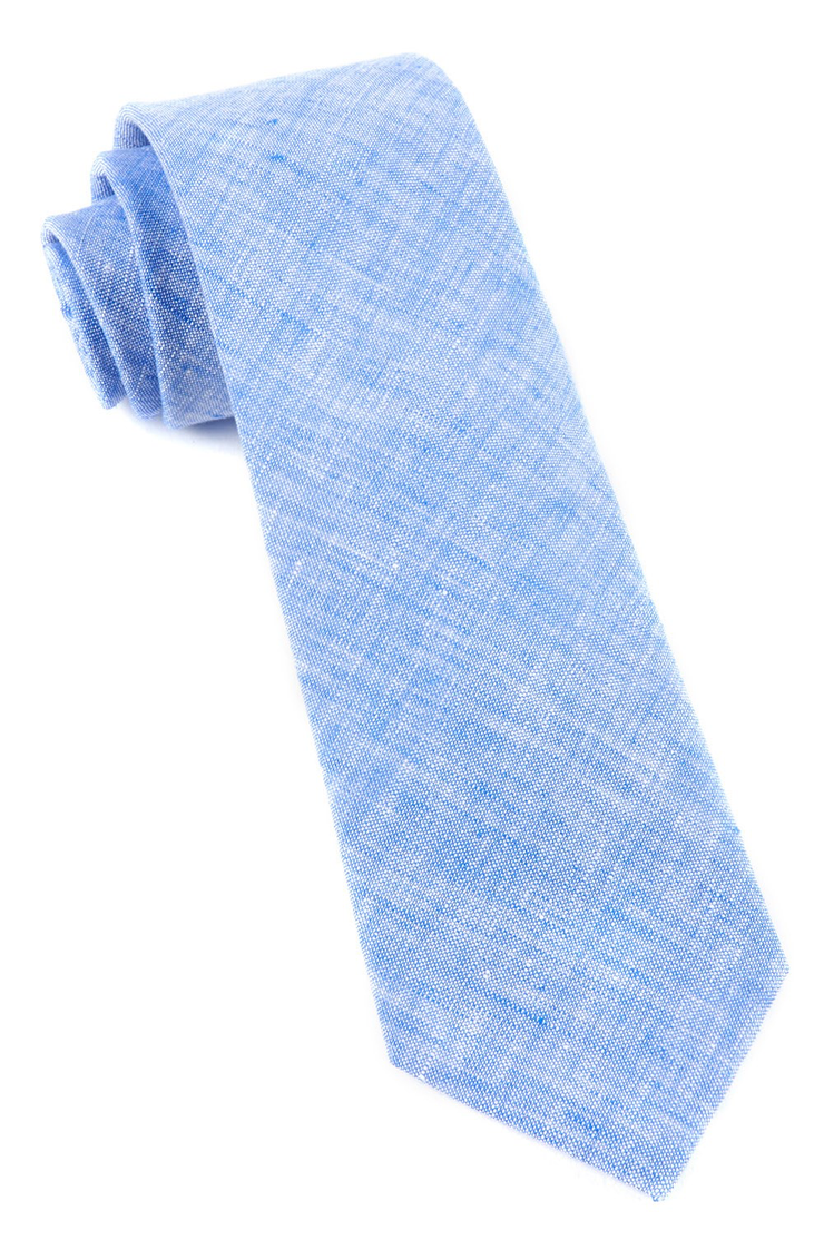Light Blue Freehand Solid Tie