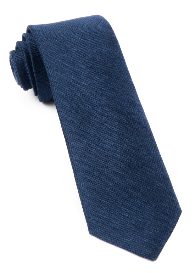 Navy Festival Textured Solid Tie