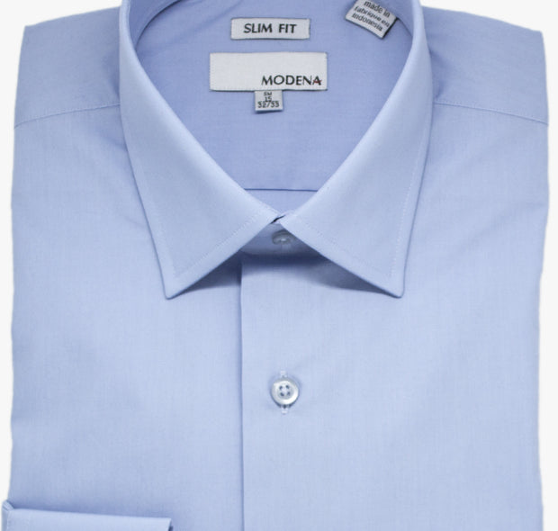 Powder Blue Modena Slim Dress Shirt