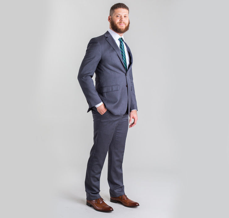 Pursuit Charcoal Microstripe Small Batch Suit