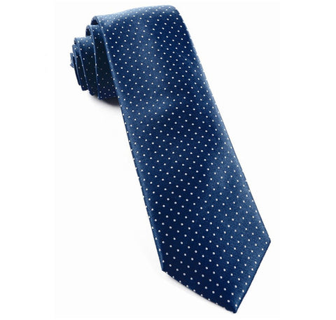 Navy Mini Dots Tie