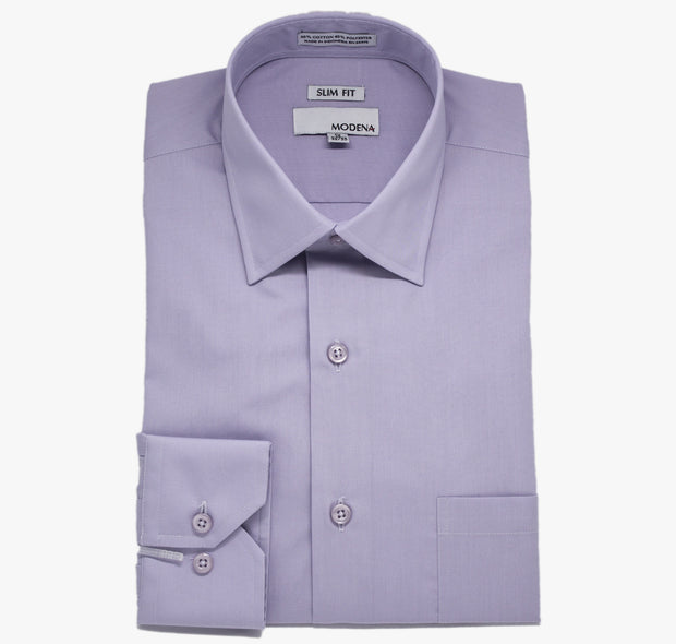 Modena Slim Lavender Dress Shirt