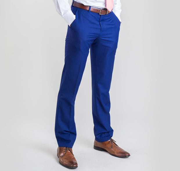 Pursuit French Blue Slim Fit Suit Pant