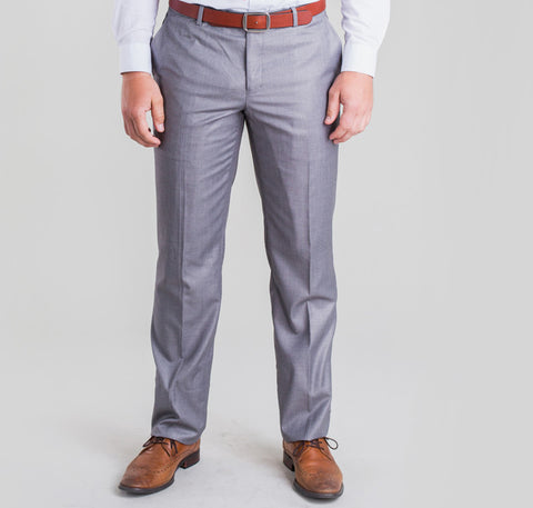 Pursuit Light Gray Slim Suit Pant