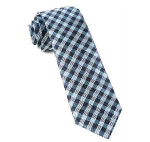 Navy Polo Plaid Tie