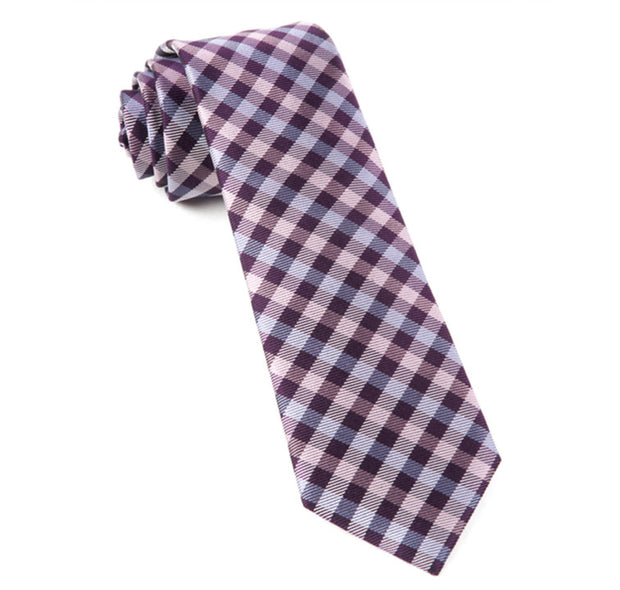 Plum Polo Plaid Tie