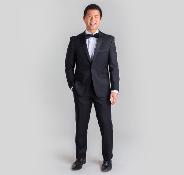Pursuit Black Slim Fit Tuxedo Coat
