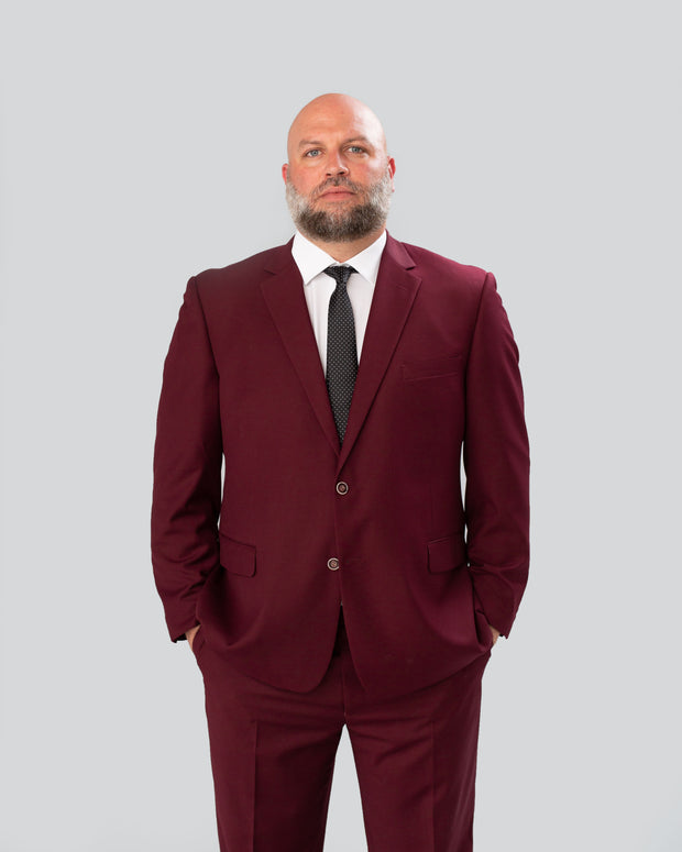 Pursuit Burgundy Regular Fit Suit Coat