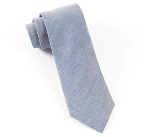 Classic Chambray Slim Warm Blue Tie