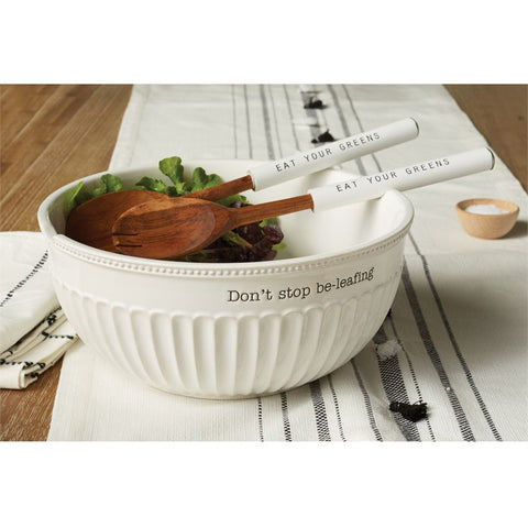 Don't Stop Be-Leafing Salad Bowl Set
