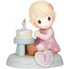 Growing In Grace, Age 1 Blonde Girl Figurine
