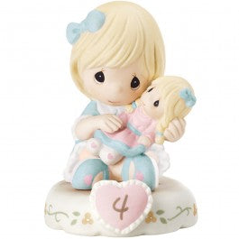 Growing In Grace, Age 4 Blonde Girl Figurine