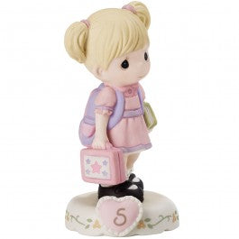 Growing In Grace, Age 5 Blonde Girl Figurine