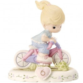 Growing In Grace, Age 6 Blonde Girl Figurine