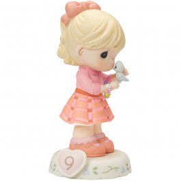 Growing In Grace, Age 9 Blonde Girl Figurine