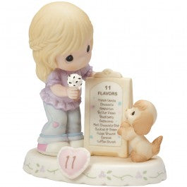 Growing In Grace, Age 11 Blonde Girl Figurine
