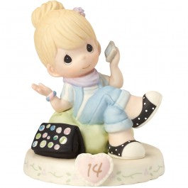 Growing In Grace, Age 14 Blonde Girl Figurine