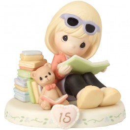 Growing In Grace, Age 15 Blonde Girl Figurine