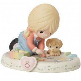 Growing In Grace, Age 8 Blonde Girl Figurine