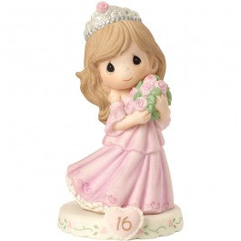 Growing In Grace, Age 16 Brunette Girl Figurine