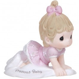 Growing In Grace, Precious Baby Brunette Girl Figurine