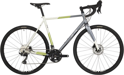 NEW All-City Cosmic Stallion GRX - Gunmetal/Sage/Cream Stripe All-Road Bike