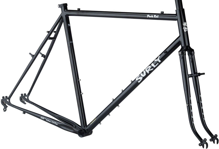 "NEW Surly Pack Rat 26"" Frameset - Hi-Vis Black Touring Frame"