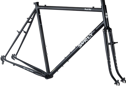 NEW Surly Pack Rat 650b Frameset - Hi-Vis Black Touring Frame